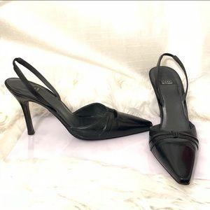 Stuart Weitzman pointed open back heels size 9.5